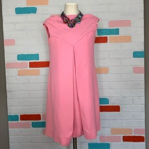 Pink shift mini dress